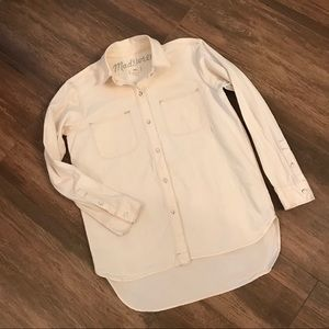 Madewell Cotton Button Front Shirt
